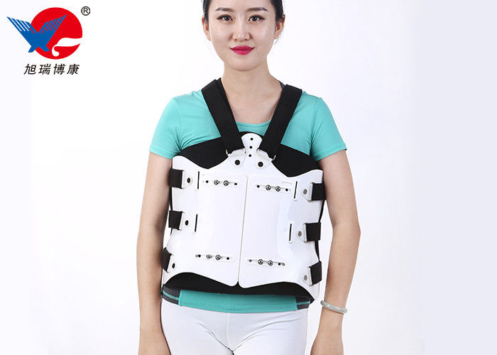 Flannel Adjustable Medical Orthosis , Lumbar Orthosis Back Brace Provide Stable Support